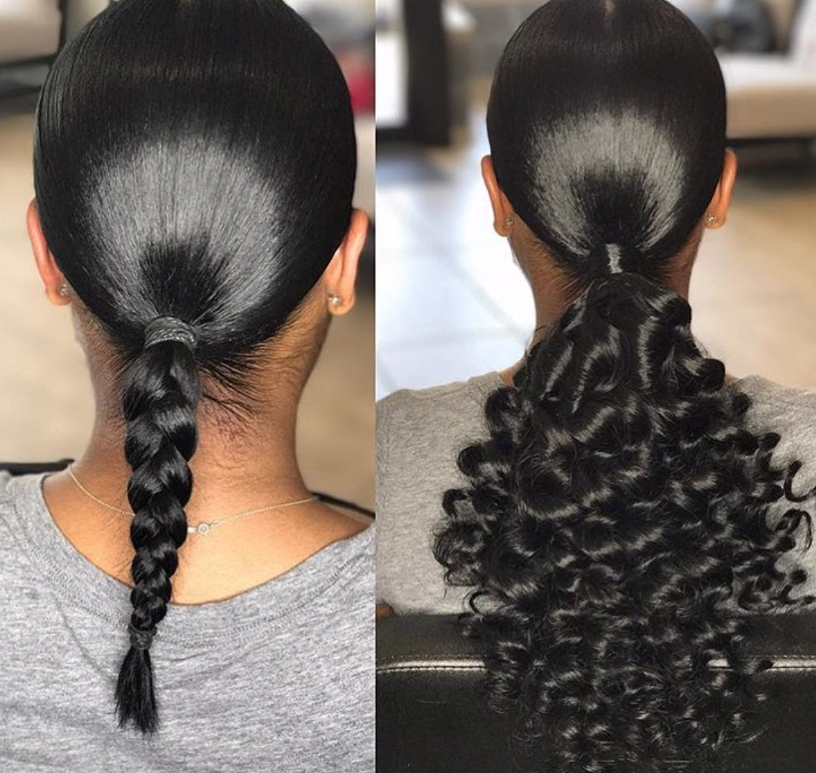 Nice natural ponytail via @keystylist - Black Hair Information