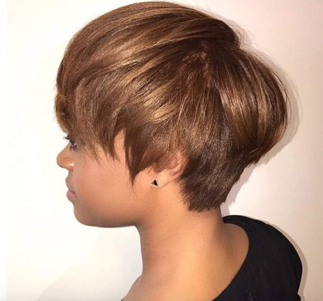 Nice Cut And Color By Msklarie Black Hair Information