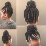 Cute updo by @returning2natural