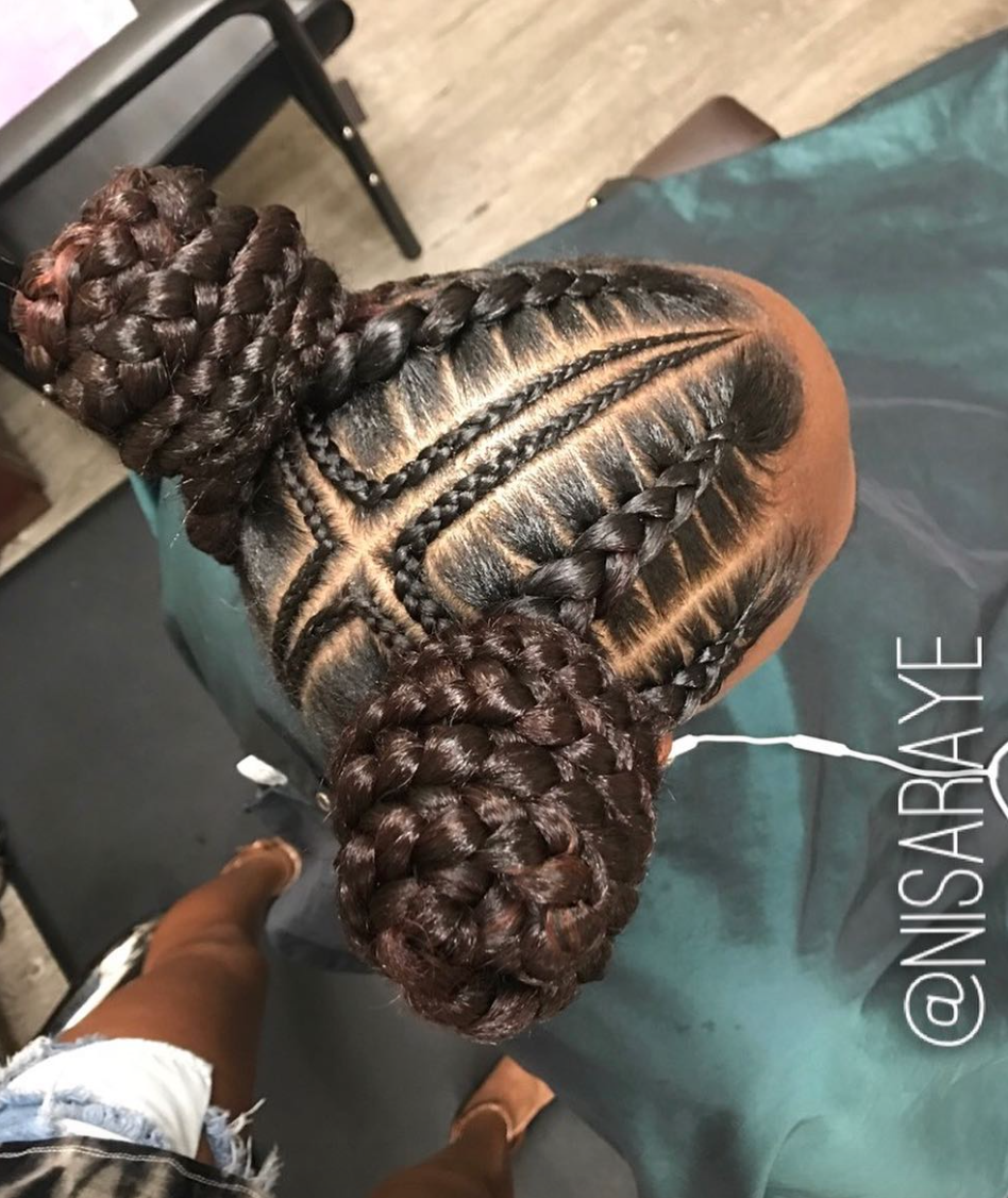 Dope Braided Buns By Nisaraye Black Hair Information