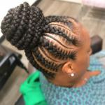 Flawless braided bun by @nisaraye