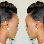 NATURAL HAIR BRIDAL UPDO