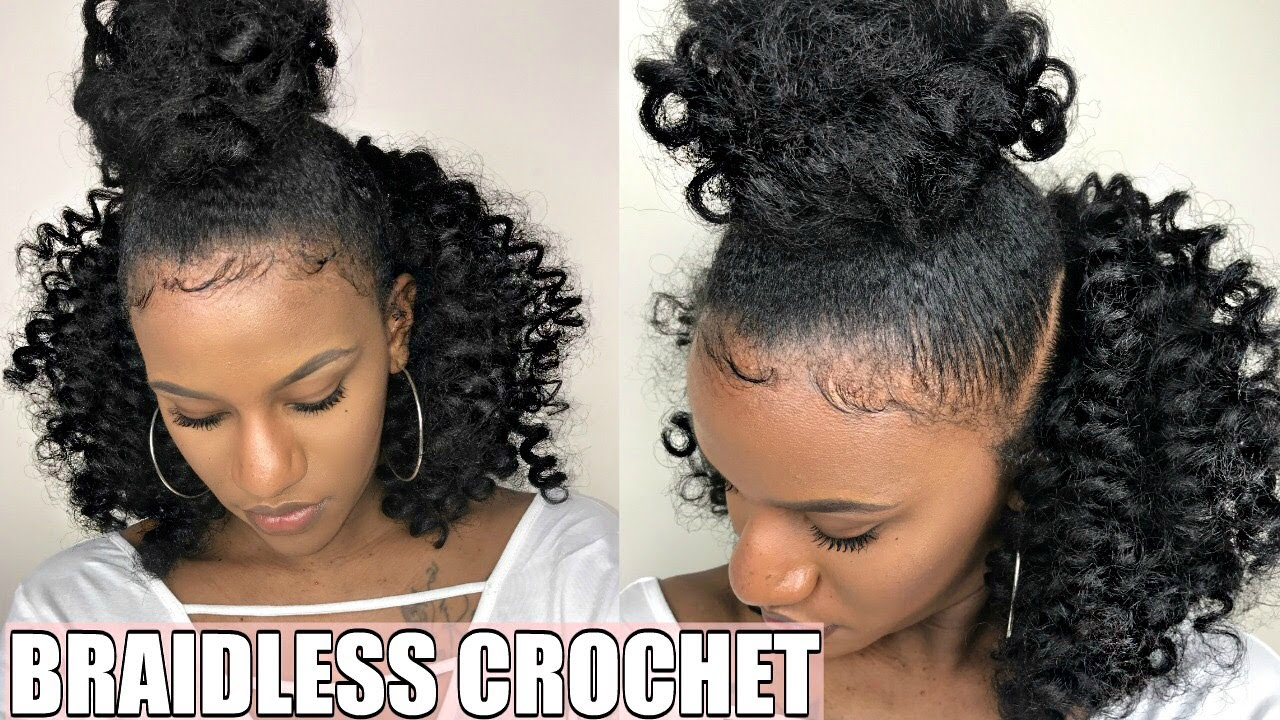 Braidless Crochet Top Knot Half Up Half Down No