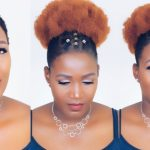 Braidless Crochet Tribal Afro Puff On Short Natural Hair [Video]
