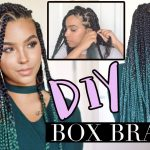 DIY Box Braids like a PRO! LOW TENSION TECHNIQUE [Video]
