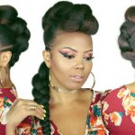 FAUX BRAIDED MOHAWK | BRAIDED FAUX HAWK | HOW TO NO CORNROWS 4C NATURAL HAIRSTYLES [Video]
