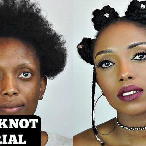 How To Bantu Knot Tutorial With Extension On Short Natural Hair [Video]