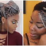 How To Box braids for Short Tapered hair| Waist length + styles [Video]
