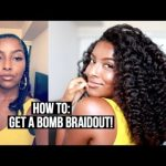 How To Get A BOMB Fluffy Braid Out On Blow Dried Hair