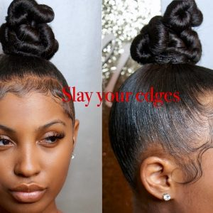 How To Slay Your Edges Reloaded W Twisty Top Knot Bun [Video]