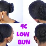 How To | Sleek Low Bun Tutorial On Short/TWA 4C Natural Hair [Video]