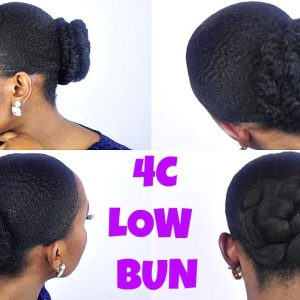 How To | Sleek Low Bun Tutorial On Short/TWA 4C Natural Hair [Video]