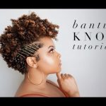 Bantu Knot Tutorial 4A Tapered Natural Hair | As I Am