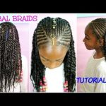 KIDS NATURAL HAIR STYLES | TRIBAL BRAIDS & BEADS TUTORIAL [Video]