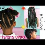 KIDS NATURAL HAIRSTYLES | FLAT TWISTS UPDO TUTORIAL ( Mommy & Minis) Part 2 [Video]