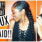SUPER EASY Long Faux Braid for Natural Hair| Protective Style [Video]