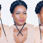 TRIBAL FAUX HALO BRAID IN 10 MINUTES 4C NATURAL HAIR