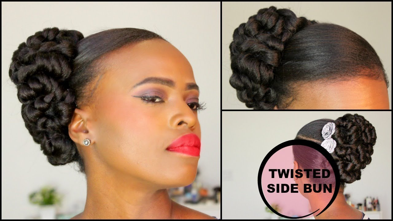 TWISTED PIN-UP BUN [NATURAL HAIR TUTORIAL]