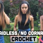 1hr Braidless Crochet (No Cornrows)!!! | Ombre Sleek Straight Middle Part | Great for TWA [Video]