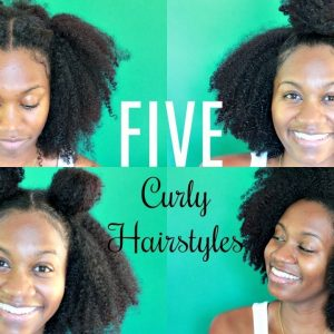 5 SIMPLE HAIRSTYLES FOR AN OLD WASH N GO | NATURAL HAIR [Video]