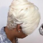 Platinum bob @hairbylatise