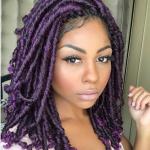 Gorgeous purple faux locs @nel_makeup_kriola