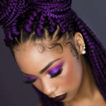 Yass purple box braids by @queen_keedy