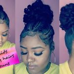 Braids + Invisible Ponytail on Short Hair  [Video]