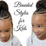 Children's Braided Hairstyle With a Bun | Back to school Hairstyles [Video]