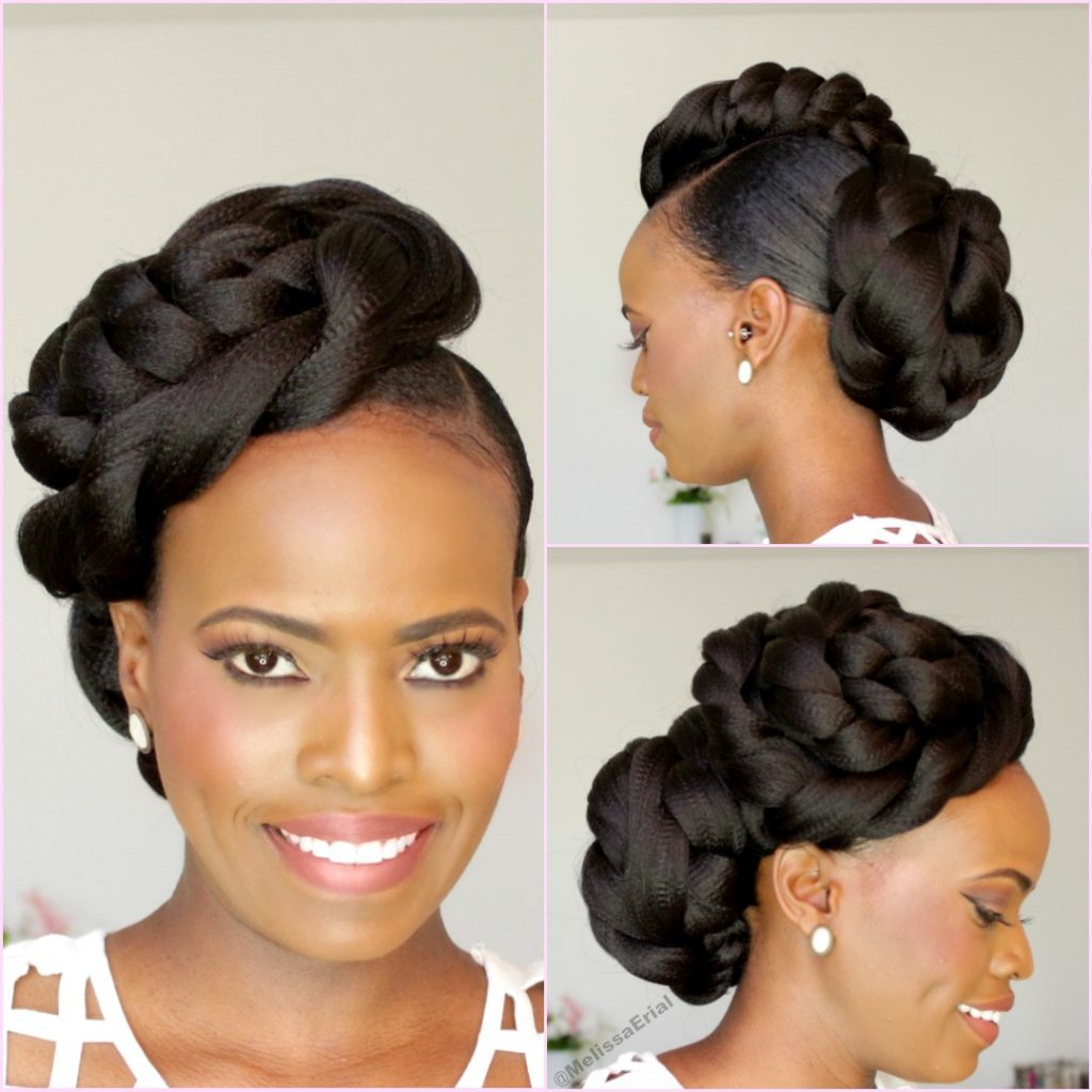 Wedding Hairstyles For Natural Black Hair: NATURAL HAIR BRIDAL STYLE UPDO