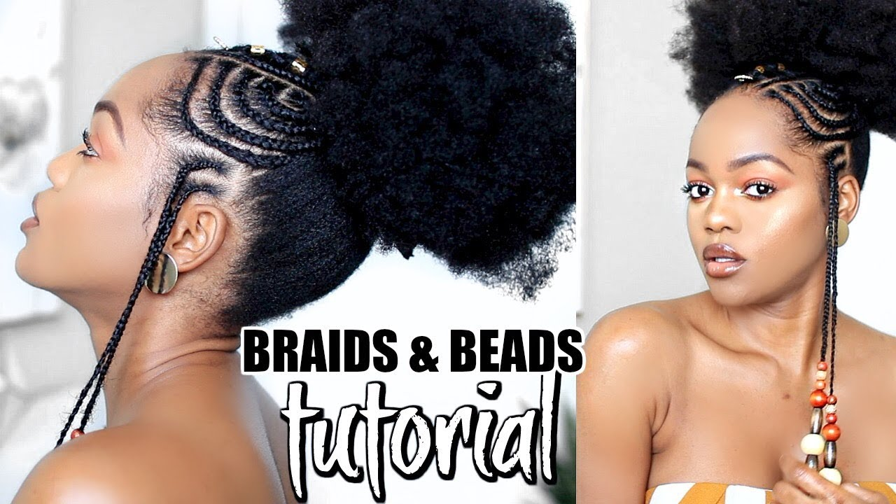 How To African Fulani Inspired Braids And Beads Tutorial
