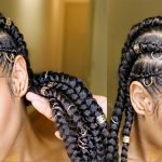 How to do JUMBO Feed-In Cornrow Braids (natural hair protective style tutorial) [Video]