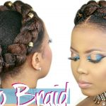 HOW TO | FAUX HALO BRAID TUTORIAL| CROWN BRAID W/ KANEKALON HAIR| 4C NATURAL HAIRSTYLE [Video]