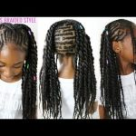 KIDS NATURAL HAIR STYLES | CORNROWS BRAIDED STYLE (BACK TO SCHOOL HAIR) [Video]