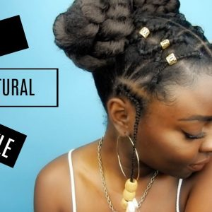 Natural Hairstyle | Criss Cross Rubber Band Braids.. or w/e [Video]