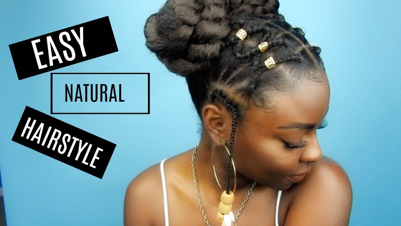 Natural Hairstyle Criss Cross Rubber Band Braids Or W E Video