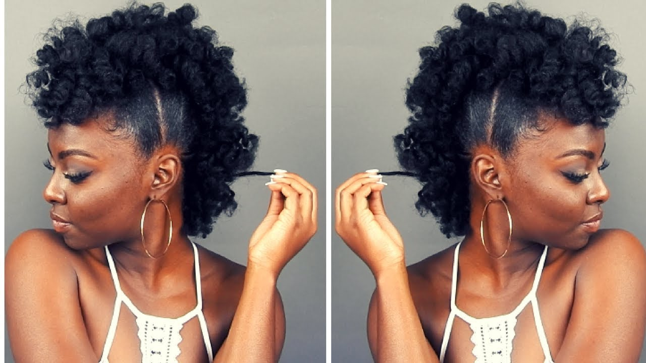 Natural Hairstyle | Fluffy Pony FROHAWK Video - Black Hair Information