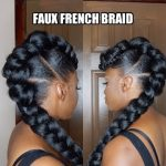 *PROTECTIVE STYLE* FAUX FRENCH BRAID UPDO [Video]