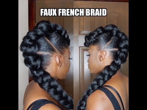Protective Style Faux French Braid Updo Video Black
