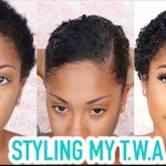 Styling My TWA (Short Natural Hair) + GRWM [Video]