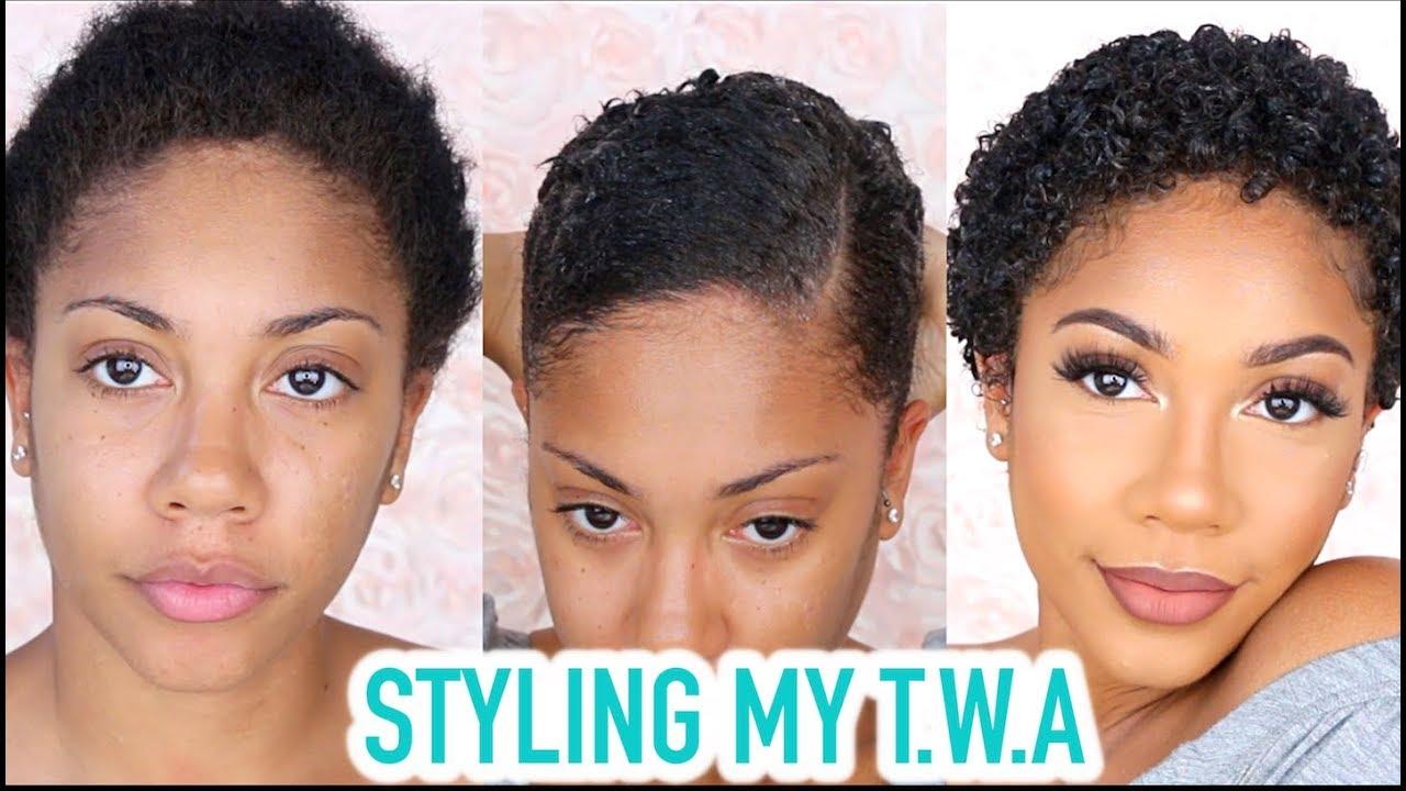 Styling My Twa Short Natural Hair Grwm Video Black
