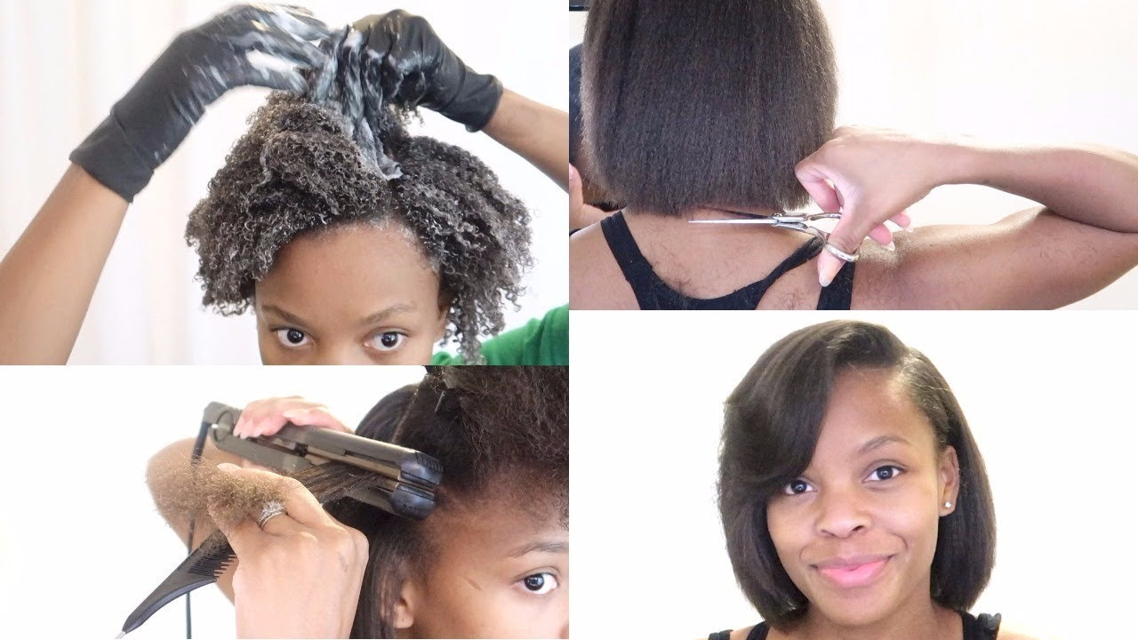 showing 1st image of My Natural Hair Routine Start To Finish Youtube Trim + Silk Blowout + Dry Hair Solutions | My 3 Month ...