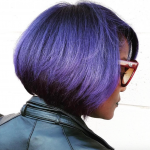Beautiful purple bob via @salonchristol