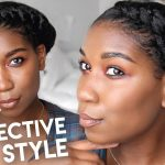 Asymmetrical Twisted Crown | Protective Hairstyles Natural Hair [Video]