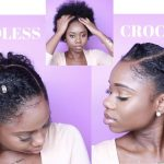 BRAIDLESS CROCHET – FLAT TWIST AND LOW CURLY PUFF || NO CORNROWS  [Video]