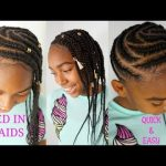 FEED IN SIDE BRAIDS TUTORIAL | GIRLS NATURAL HAIRSTYLES [Video]