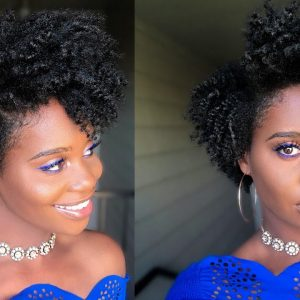 Flat Twist-out on Grown out Tapered Hair Cut [Video]