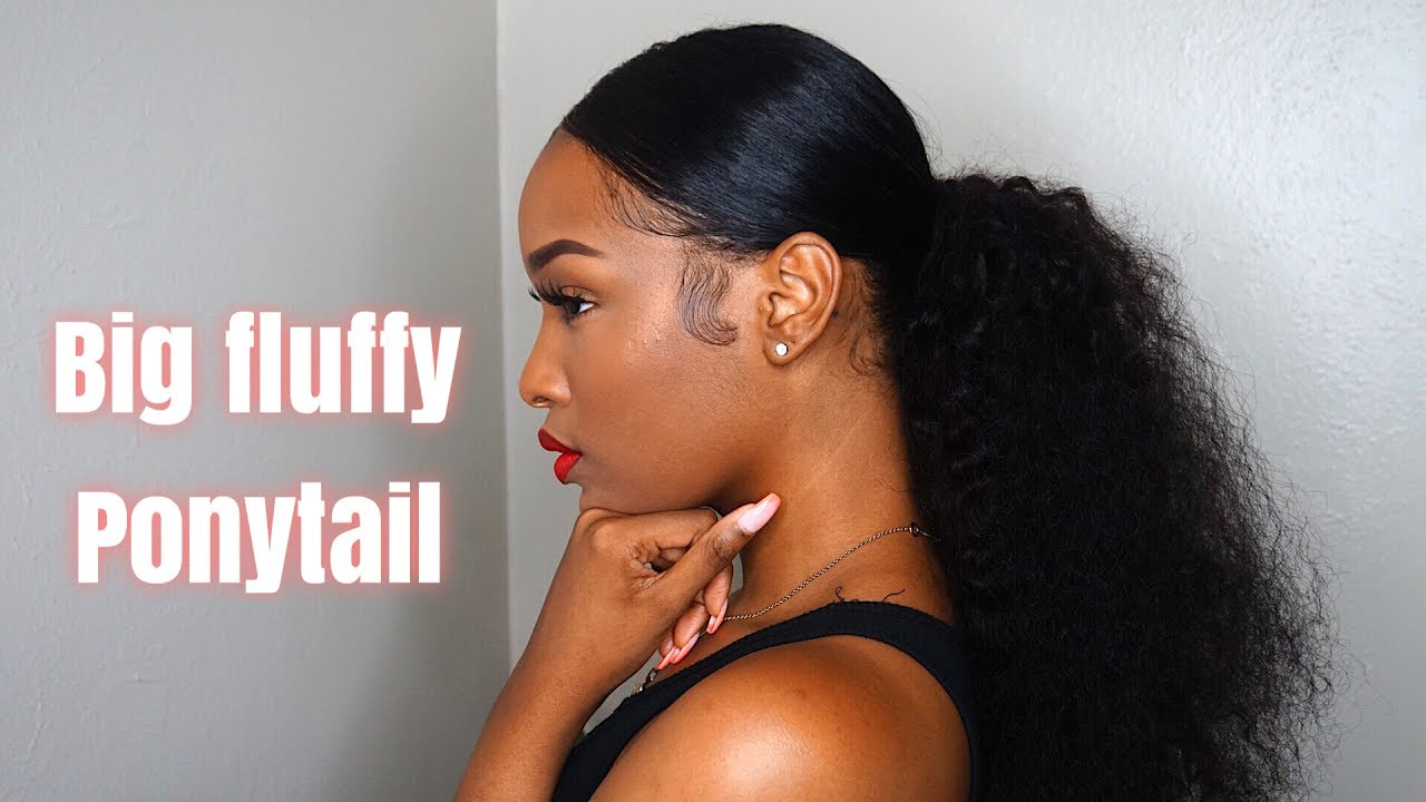Grwm Hair  Big Fluffy Ponytail Video - Black Hair -9683