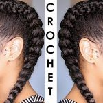 How to Crochet braid your Cornrows! No feed-In/Ghana Braids (natural hair style) [Video]