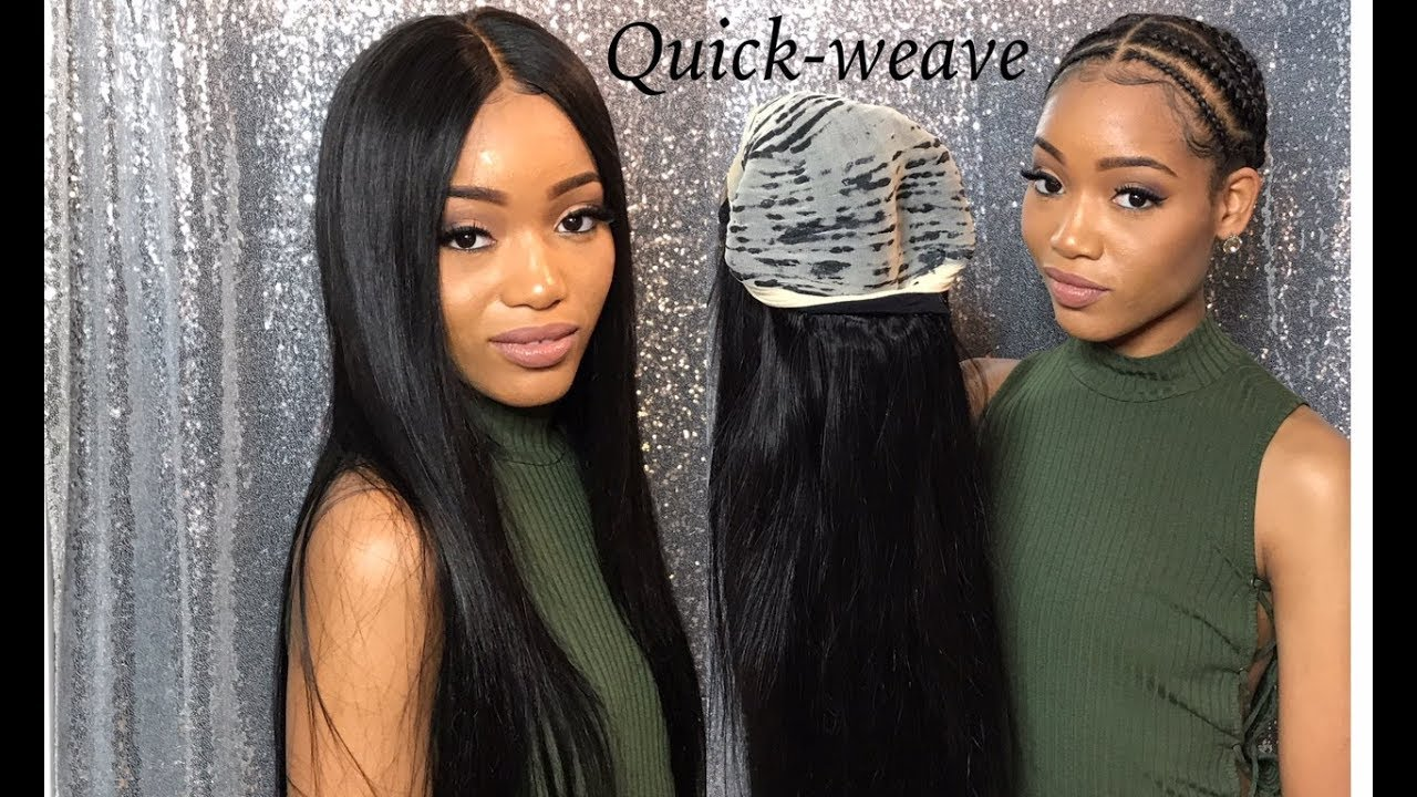 How To Do A Removable Glue Less Quick Weave With A Closure Video